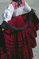 Ejutla de Crespo, back view of girl dancer, 1982