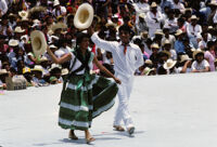 Pochutla, dancers holding hats, 1982 or 1985