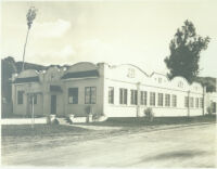 White stucco building at Universal City, Calif., circa 1915