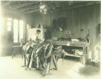 Worker in saddlery shop at Universal City, Calif., 1915