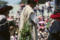 Mixistlán, dancers holding leaves, 1985
