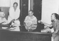Edwin Pauley, Harry S. Truman, Commander Leo and his secretary