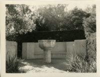 Wright Saltus Ludington residence, side view of terraces, Montecito, 1931