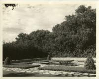 William Dickinson residence, garden, Hope Ranch, 1937