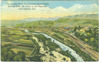 Los Angeles River Valley from Scenic Poit, Elysian Park, Mt. Lowe in the Distance, Los Angeles, Cal.