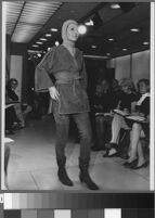 Black and white photographs of Cashin's fashion show at Sills and Co. showroom.
