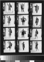Contact sheets of Cashin's ready-to-wear designs for Sills and Co.  Folder 1 of 2.