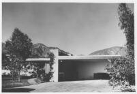 Artega House, exterior garage and front [photograph]
