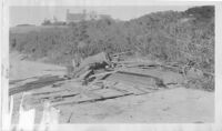 J. N. Brown House.  John Nicholas Brown after severe damage to house by hurricane in 1938.