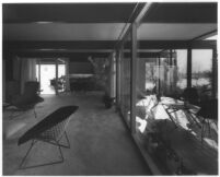 Bizzarri House, interior and patio view