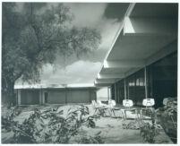 Alamitos School, exterior quad and lockers [photograph]