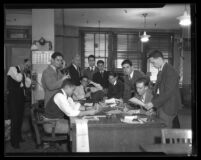 Boys Week at the Los Angeles Times office, 1934
