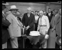 Harry Chandler's 70th Birthday party at the Times, 1934