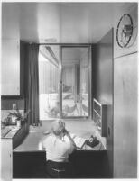 Fisher House, interior kitchen desk area