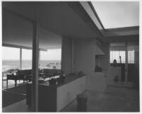 Connell House, interior kitchen - livingroom