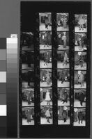 Contact sheets of Cashin's fashion show at Sills and Co. showroom.