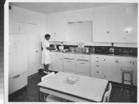 Evans Products Co., interior kitchen