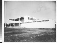 Evans Products Co., exterior view from Southeast