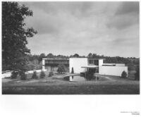 Friedland House, exterior full view with car park