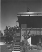 Heller House, exterior stairway from Southeast wing