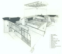 Le Moore School, diagram interior materials