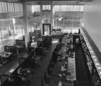 Coco Tree Restaurant, interior overhead view