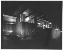 List House, exterior at night [photograph]