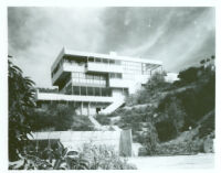 Lovell House, exterior view from valley [view 2]