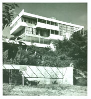 Lovell House, exterior view from valley [view 1]