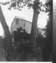 Malcolmson House, exterior view from lower garden [photograph]