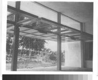 Home for Girls, view of tilt-up doors in classroom