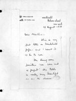 Letter, 1938 August 18, Fishers Island, N.Y. to Neutras