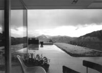 Bucerius House, looking from patio towards snow covered mountains