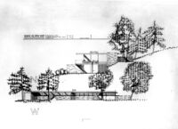 Grelling House, elevation drawing of North and West