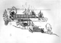 Grelling House, elevation drawing of South East