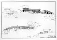 Bucerius House, elevation drawing (four perspectives)