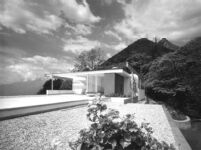 Bucerius House, exterior, stone paved roof terrace