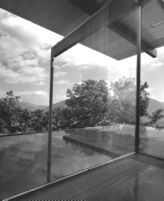 Bucerius House, interior, view of reflecting pool/water mirrors