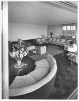J. N. Brown House, interior social quarters, view looking in from doorway