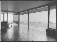 J. N. Brown House, interior screened terrace
