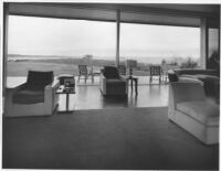 J. N. Brown House, interior social quarters, view looking out to patio