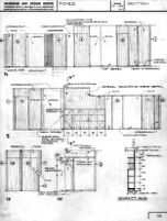 Rentsch House [?], elevation for walls in foyer