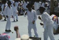 Ylalag, performers throwing gifts to spectators, 1985