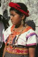 Santa Catarina Estetla, girl in costume, 1985