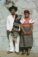 Santa Catarina Estetla, boy and girl in costume, 1985