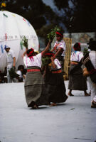 Santa Catarina Estetla, dancers holding leaves, 1985