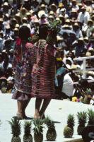 Tuxtepec, women holding pineapples, 1985