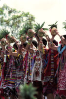 Tuxtepec, women dancers holding pineapples, 1985