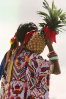 Tuxtepec, women holding pineapples, 1985