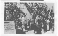 Missions, San Diego de Alcala, rededication procession, Reverend Fumasoni-Biondi